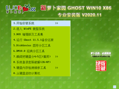 萝卜家园 GHOST WIN10 32位专业安装版 V2020.11