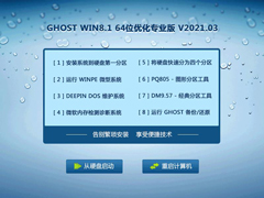 GHOST WIN8.1 64位优化专业版 V2021.03