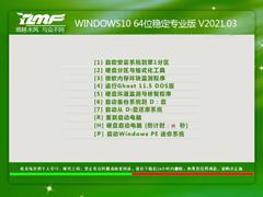 雨林木风 WINDOWS10 64位稳定专业版 V2021.03