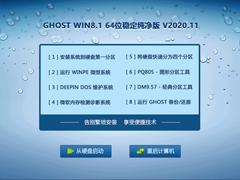 GHOST WIN8.1 64位稳定纯净版 V2020.11